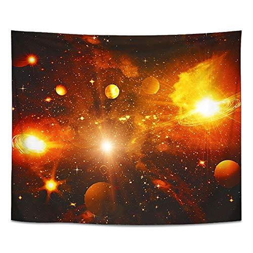 tianhao Alfombra de Tela con Estampado de Pared, innumerables Planetas Que cuelgan la Alfombra de la decoración