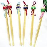 YOYOSTORE 20 Pcs Mix Cute Doll Bamboo Earpick Ear Wax Remover Cleaning Tool