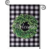 【Eye-catching Garden Flag】 With the vivid pattern and brilliant color on this garden flag, your guests will feel at home when they enter your yard. This farmhouse decor will add a colorful and a lively atmosphere to any Garden or entryway. Happy Holi...