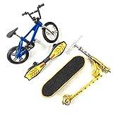 Angelliu Mini Vélos,Mini Planche À roulettes Kit,Doigt Jouets pour Enfants Et Cadeau(Styles Multiples)