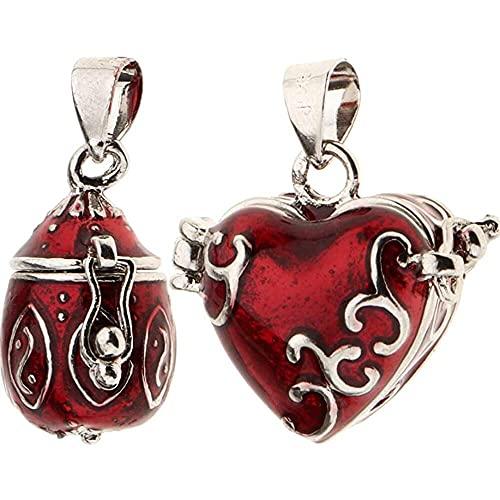 chaosong shop 2 piezas colgante de corazón esmaltado abierto de cremación de recuerdo de animales