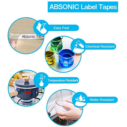 """Absonic Compatible Label Tape Replacement for Casio XR-9WE XR-9WE2S EZ 9mm Black on White Label Cartridge for Casio KL-100 KL-120 KL-60 KL-750 KL-780 KL-820 KL7000 7200 Label Maker, 3/8"""" x 26', 3-Pack Photo #5"""