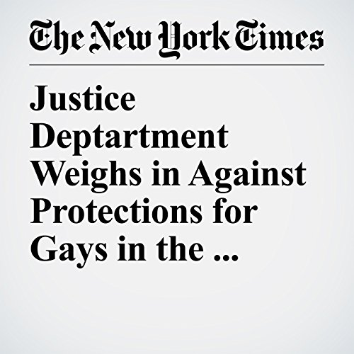 Justice Deptartment Weighs in Against Protections for Gays in the Workplace copertina