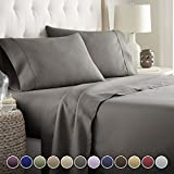 Hotel Luxury Bed Sheets Set- 1800 Series Platinum Collection-Deep Pocket,Wrinkle & Fade Resistant (Queen,Gray)