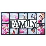 Cadre à inscription 'Family' Cadre photo Galerie photos Collage de photos -cadre pour plusieurs photos Support pour photos...