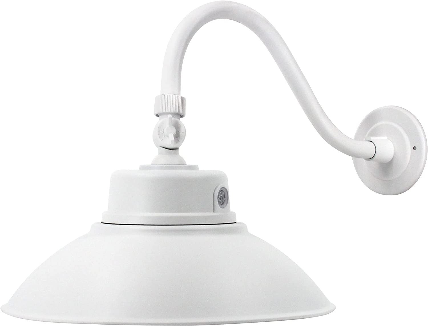 14in. White LED Outlet SALE Gooseneck Barn Light Fix Daylight Be super welcome 4000lm 42W