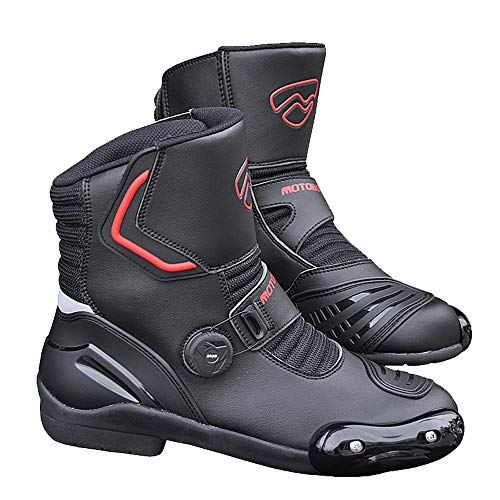 YZT QUEEN Motorlaarzen, waterdichte heren motorcross leren laarzen gepantserde racefiets race-laarzen comfortabel en ademend