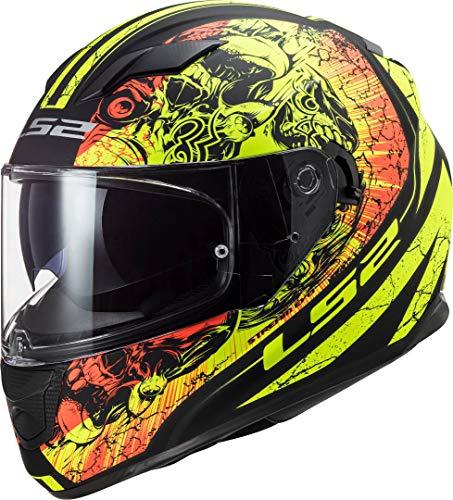 LS2 NC Casco de Motociclismo, Hombre, Negro/Amarillo, S