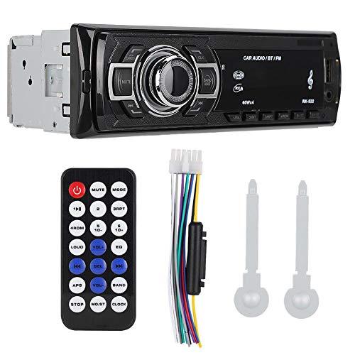 Hakeeta MP3-audio-speler voor de auto, bluetoothverbinding met mobiele telefoon, FM-radio, schokbestendig, autoradio-ontvanger, power-off-geheugenfunctie, handsfree bellen