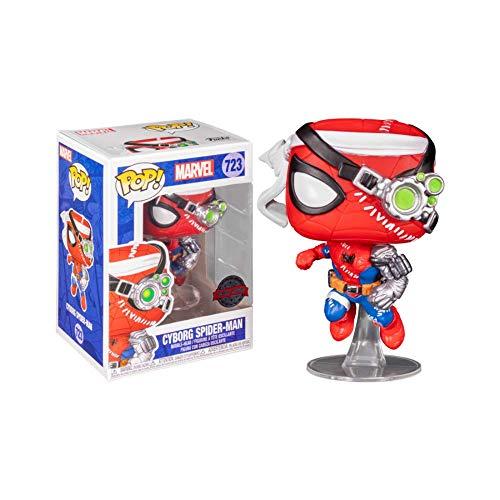 Funko Pop! Marvel Exclusive Spider-Man – Cyborg Spider-Man #723 w/ Free Acrylic Case