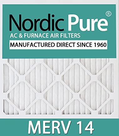 Nordic Pure 12x16x1CustomM14-12 Merv 14 AC Furnace Filter 12 Piece [並行輸入品]