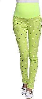 Fulision 女性のファッションカジュアル印刷妊婦の春秋フル足首の長さカジュアルウエストバンド妊娠中のズボンポケット調節可能なレギンス