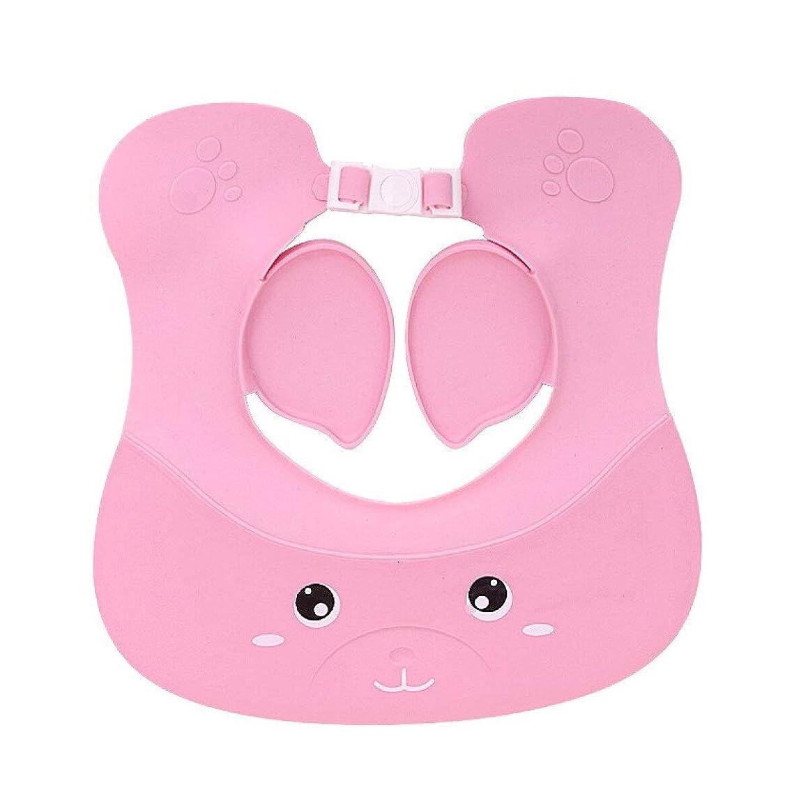 目指すタクシー流暢RONGJINGZHU シャンプーキャップ子供のお風呂キャップぬくもり調整イヤーマフシャンプーキャップシャワーキャップを厚く (Color : Pink)