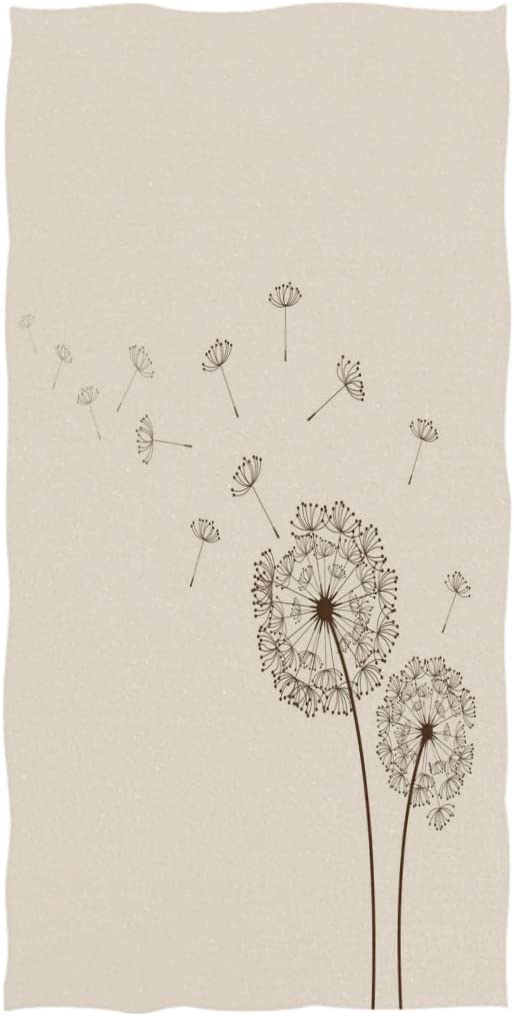 Naanle Online limited product Beautiful Dandelions Print Soft De Highly Large Popular brand Absorbent