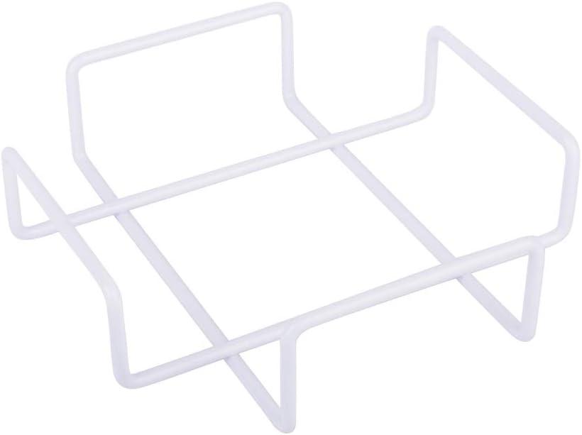 KOOK TIME Servilleteros de Mesa/Porta servilletas Modelo Simple - Metal Lacado en Color Blanco - Medidas 18.5 x 18.5 x 5 cm - Apto para servilletas tamaño éstandar