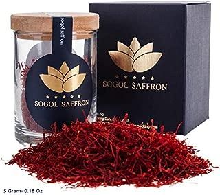 Saffron Threads ,Organic Persian Saffron Tea-Rice ,Spice Saffron ,Pure Spanish Saffron - Premium All Red Saffron (Negin) 5gram- 0.18 Ounce