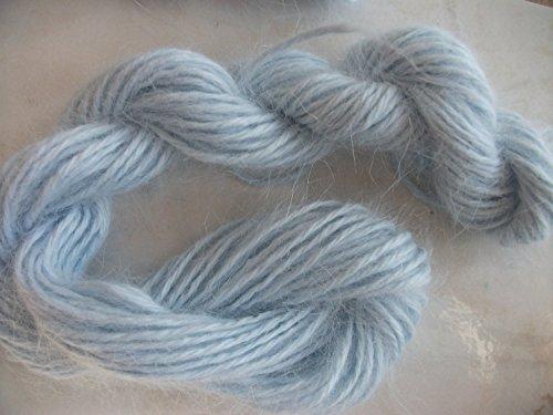 Light Powder Blue 100% Pure Angora Rabbit Fur Yarn