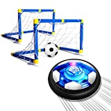 SUPER JOY Hover Soccer Ball Play Set Toy with 2 Goals, Rechargeable with Colorful LED Lights and Soft Foam Bumpers, Ideal Birthday for Kids Toddlers Boys and Girls Age 3 4 5 6 and up