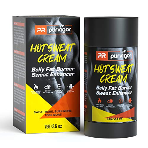 Hot Sweat Cream, Belly Fat Burner Fat Sweat Enhancer Workout Gel Massage Muscle Cream for Women and Men Weight Loss Fitness Cellulite Removal Cream