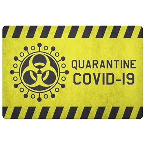 Pandemic Quarantine Area Door Mat Rug 26'x18' Biohazard Caution Doormat