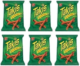 Barcel Takis Crunchy Fajita Taco Flavored Corn Snack: 6 Bags of 9.9 Oz
