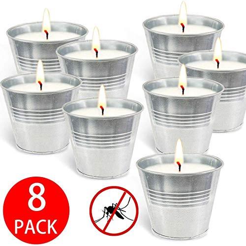 Lhl 8 Unids/Set Velas De Cera De Soja con Fragancia, Vela Repelente De Mosquitos Sin Humo para Decoración De Cumpleaños De Boda En Casa