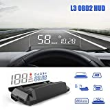 Heads Up Display for Car, iKiKin OBD2 Car HUD Display Shows Speed RPM