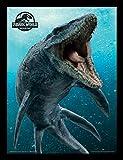 Jurassic Park Jurassic World Fallen Kingdom (Mosasaurus) - Impresión enmarcada (30 x 40 cm)