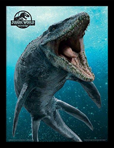 Jurassic Park Jurassic World Fallen Kingdom (Mosasaurus), stampa incorniciata, multicolore, 30 x 40 cm