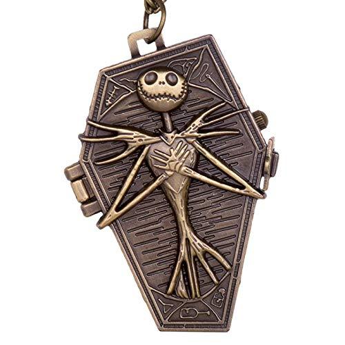 Reloj de Bolsillo de Cuarzo de Bronce a la Moda, Relojes con Colgante para Hombres y Mujeres, Regalo para Reloj de Bolsillo con Collar TD2147