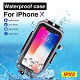 BECEMURU iPhone Wasserdicht Sealed Fall 60m/195ft Professionelle Unterwasser Foto Video wasserdichte...
