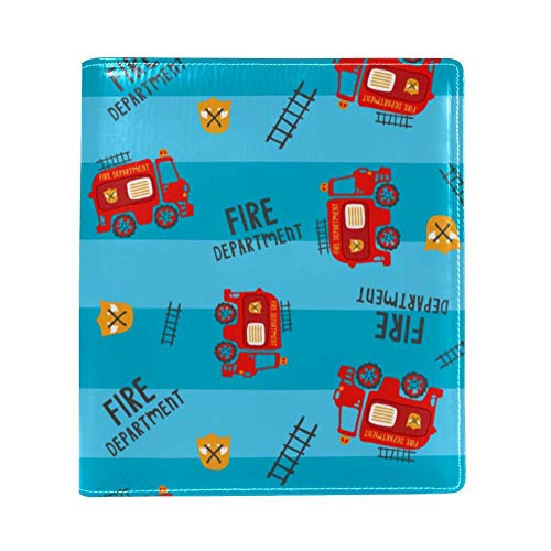 Nahtlose Kinder-Feuerwehrauto Illustration, PU-Leder, einseitig bedruckt, Polyester buchgefüttert, großes Buch Cover