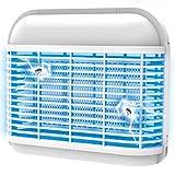 Gardigo 62310 - Lampara Matamoscas Electrico; Luz Ultravioleta UV 2x6 W Anti-Polillas, Insectos, Zancudos, Moscas; Lampara Trampa Anti-Mosquitos; Bandeja para Recoger Insectos; Cadena de Suspensión