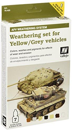 Vallejo val899 Peinture Model Color VTT aux intempéries pour véhicules Jaune et gris