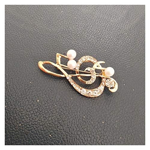 Fylsdes Brooch Fashion color brooch luxury retro gold crown brooch for pin Novelty Jewellery (Metallfarbe : Music note)