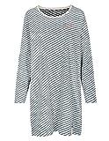 BASEFIELD Organic Cotton Homewear Nachthemd Ringel - Navy Grey Melange