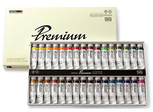 SHINHAN SWC Premium Professional Artist Grade Watercolor Paint Set 32colors 15ml