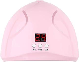 WYZ 200W 12LED UV Secadora de uñas, Luces de lámpara Carga USB Sensor infrarrojo automático Gel de uñas Secado Máquina de curado de Pulido (Color : Rosado)