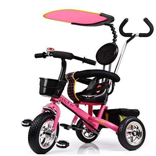 Toy house Kinder-Dreirad-Ride-On Bike 1-6 Jahre Mit Sonnenschirm Und Ablagekorb,Pink