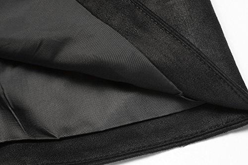 COOFANDY Men's Suede Leather Suit Vest Casual Western Vest Jacket Slim Fit Vest Waistcoat 4