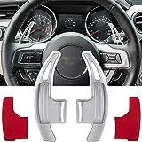 compatible con Ford Mustang Volante de cambio de pádel extendido Shifter Trim funda 2015 2016 2017 2018 2019 2020 2021 Accesorios para la decoración de interiores Aleación de Aluminio (Plata)