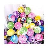 Dinah 30 globos de mármol ágata decoración mezcla de colores para la escuela Introducción fiesta de cumpleaños