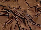Alle Wege Stretch Lycra Kleid Stoff braun–Meterware +