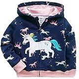 Baby Girl Jacket Unicorn Zip Hoodie Cute Sweatshirts Toddler Winter Coat Outwear Unicorn Shirt 5t /040