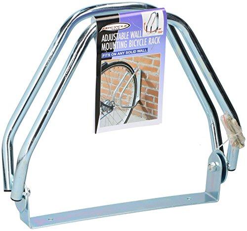 DRULINE Schwenkbarer Fahrradständer Metall Wandhalterung Metallständer 180° Wandmontage