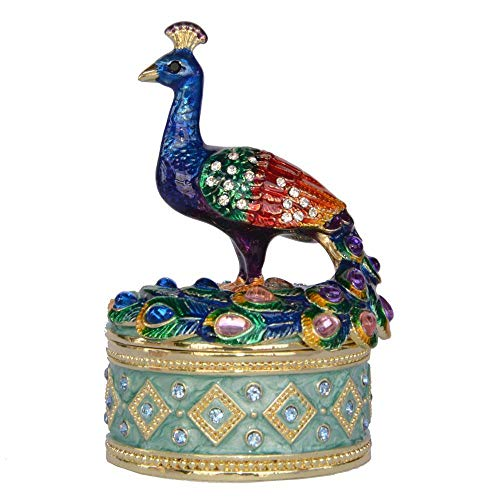 GLKHM Statue Mural Sculpture Sculpture Statue Animal Bird Trinket Box Enameled Box Bird Figurine Decoration