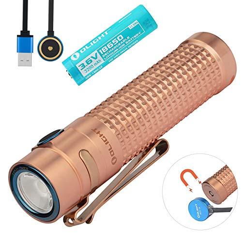 Olight S2R Baton II Taschenlampe 1150 Lumen / 135 Meter Luminus SST-40 Kaltes Weiß LED USB Magnetisch Wiederaufladbare Tragbar Taschenlampen mit 18650 Akku und Batteriefach