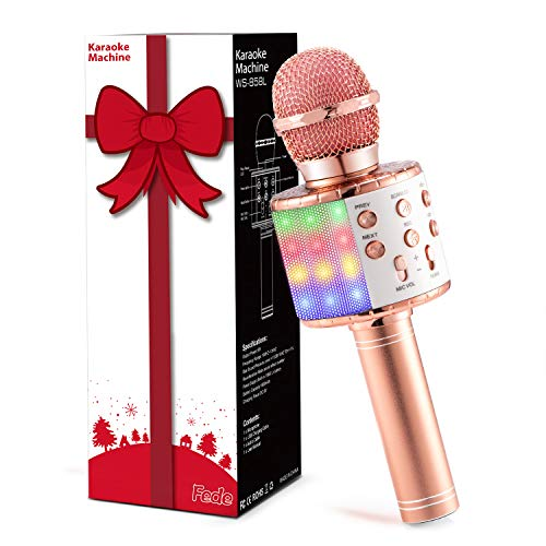 Fede Microphone for Kids Adults, Wireless Bluetooth Microphone with...