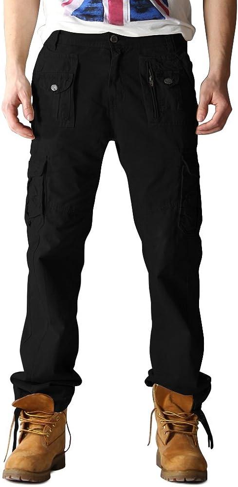 OCHENTA Men's Multi Pockets 受注生産品 Military Pants 信用 Cargo