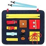 CestMall Jouet de conseil occupé pour Tout-Petits, jouets éducatifs pour Enfants en feutre, habillage de jouets d'apprentissage avec 9 compétences telles Que fermetures à glissière, boutons